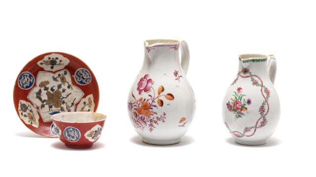 A Chinese famille rose milk jug 18th century