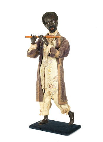 "Black flautest automata  by Gustav Vichy, circa 1870 See ""Automata. The Golden Age 1848-1914"" by Christian Bailly pg.72 for similar Automata."