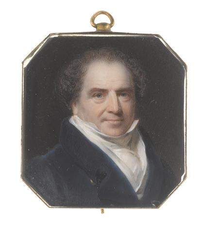 William Patten Junior (British, died 1843) Sir Edward Banks (1770-1835), wearing blue coat, white chemise, stock and cravat