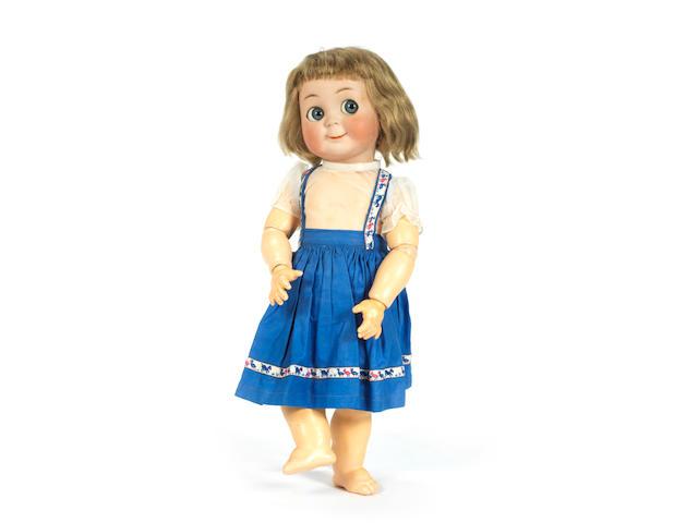 Rare Simon & Halbig 131 bisque head 'googly' doll