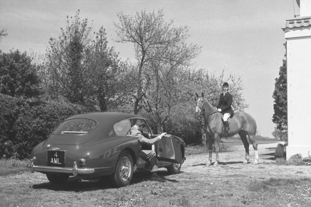 'Aston Martin DB2/4', a promotional photo-print after Louis Klementaski,