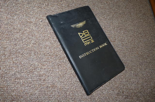 An Aston Martin DB6 MkII Instruction book,
