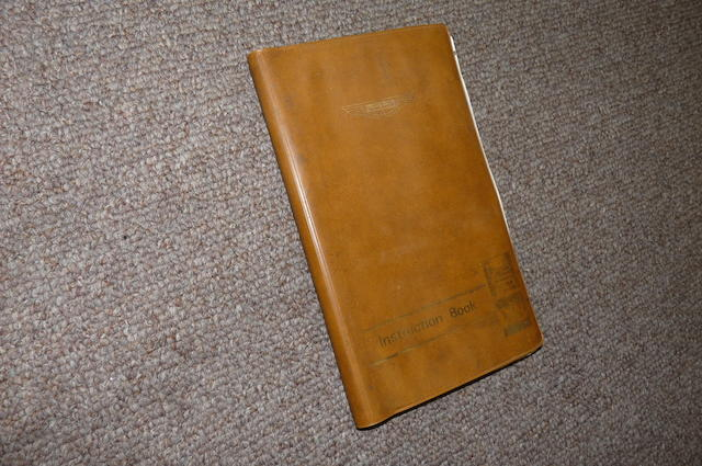 An Aston Martin BDS V8 Instruction book,