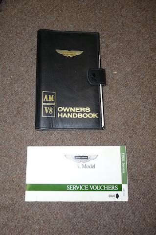 A scarce leather covered Aston Martin V8 Owner's manual, 1979,