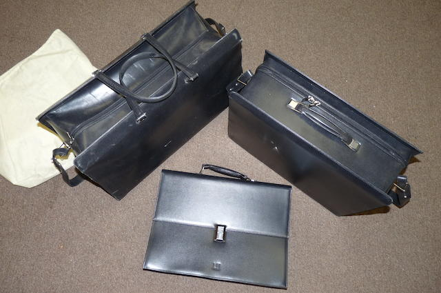 Three pieces of Dunhill fitted luggage for the 1988 Dunhill edition Aston Martin DB7 or Volante, (3)