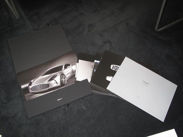 An Aston Martin 'One-77' dealer's brochure, 2008,