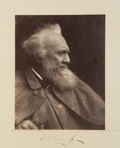 "CAMERON (JULIA MARGARET) ""Henry Prinsep"", albumen print, [1865]"