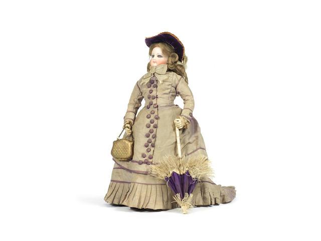 Francois Gaultier bisque head fashion doll in original clothes, circa 1870
