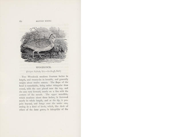 BEWICK (THOMAS) History of British Birds, 2 vol.FIRST EDITION, 1797-1804; A Memoir of Thomas Bewick, 1862 Newcastle (3)