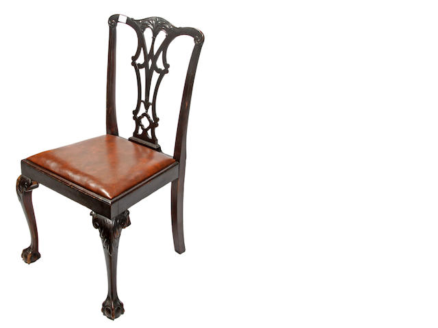 A set of Sixteen George III Chippendale style mahogany dining chairs