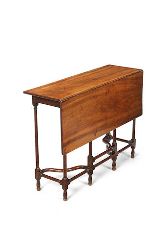 A Queen Anne walnut writing table