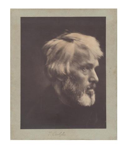 CAMERON (JULIA MARGARET) 'Thomas Carlyle', [c.1880]