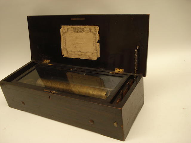 A cylinder musical box,  Swiss, circa 1880,