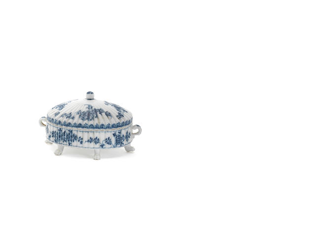 A Meissen oval butter tub and cover, circa 1730-35