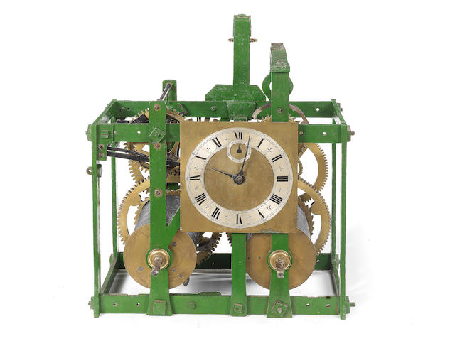 The only eight day turret clock movement by Thomas Tompion known to exist.  A very fine and rare late 17th century turret clock movement with two-second pendulum Thomas Tompion, London