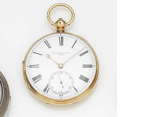 Patent Union. An 18ct gold key wind open face pocket watch with Robin escapement Numbered 2222, Circa 1795
