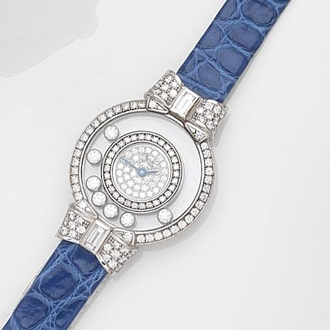 Chopard. A lady's 18ct white gold diamond set quartz wristwatch Happy Diamonds, Ref:2075020-4097/1, Case No.556488, Circa 2000