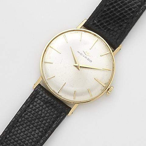 Movado. An 18ct gold manual wind wristwatch Ref:92, Case No.5352, Circa 1960