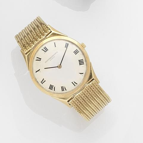 Vacheron & Constantin. An 18ct gold ultra thin manual wind bracelet watch Ref:6099, Case No.374676, Movement No.550908, London Hallmark for 1960