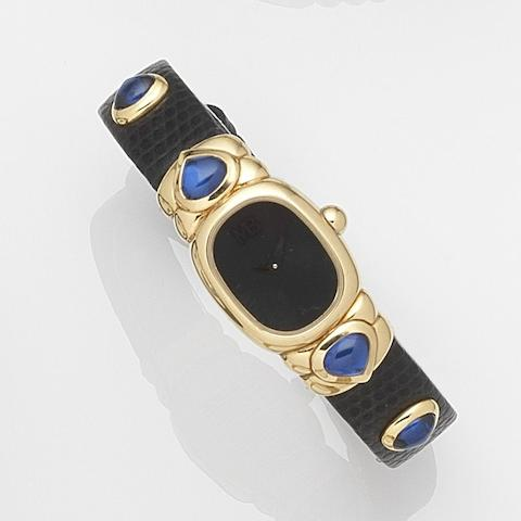 Marina Bulgari. An 18ct gold quartz wristwatchRef:975, Case No.136, Circa 2000