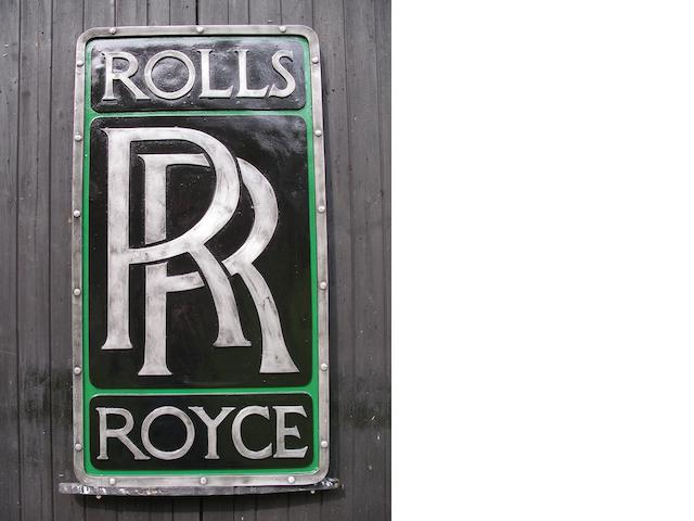 A Rolls-Royce garage display emblem,