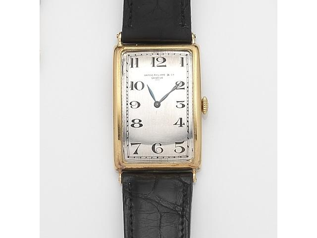 Patek Philippe. An 18ct gold manual wind wristwatch Case No.289464, Movement No.201374, Circa 1925
