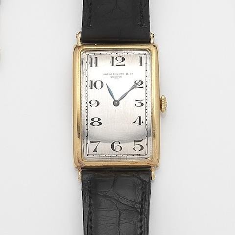 Patek Philippe. An 18ct gold manual wind wristwatchCase No.289464, Movement No.201374, Circa 1925