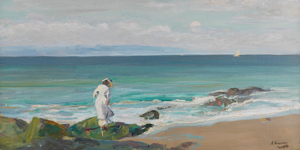 Sir John Lavery R.A., R.S.A., R.H.A. (1856-1941) The New Moon, Moonrise 63.7 x 76.7 cm. (25 1/8 x 30 1/4 in.)