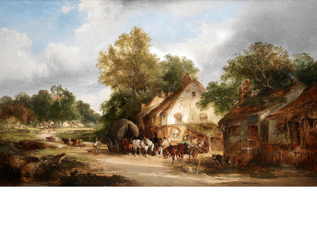 William Shayer, Snr. (British, 1787-1879), and Edward Charles Williams (British, 1807-1881) An old roadside inn, Kent