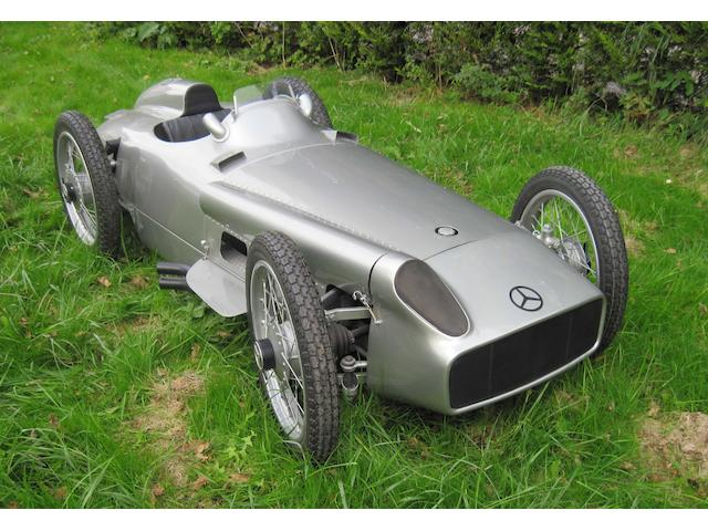 A half scale Mercedes-Benz W196 child's car,