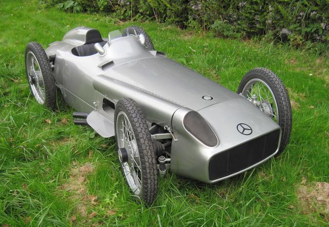 A half scale Mercedes-Benz W196 child's car,