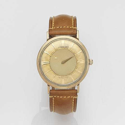 Longines. A gold plated automatic mystery hour wristwatch Admiral, Ref:1200, Circa 1960