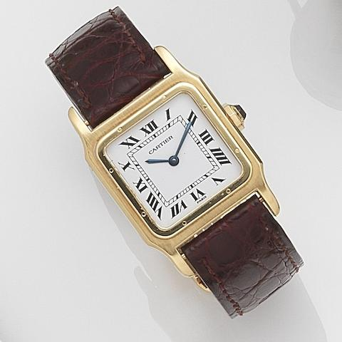 Cartier. An 18ct gold manual wind wristwatchSantos, Case No.780971731, Circa 2000