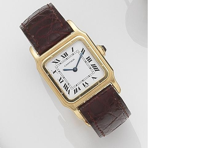 Cartier. An 18ct gold manual wind wristwatch Santos, Case No.780971731, Circa 2000