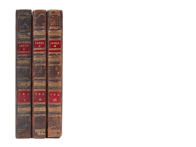 AUSTEN (JANE) Sense and Sensibility: a Novel. In Three Volumes. By a Lady, 3 vol., FIRST EDITION, 1811