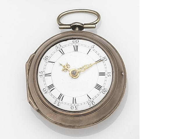 Robert Good, London. A silver key wind open face pair case pocket watch Movement No.3248, London Hallmark for 1783