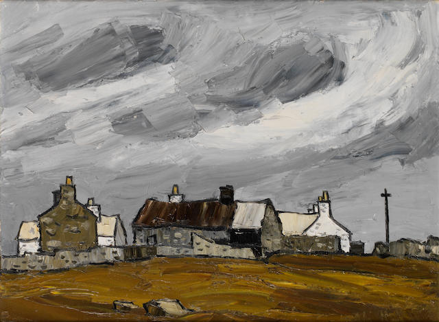 Sir Kyffin Williams R.A. (British, 1918-2006) Coleg Llansadwrn 50.7 x 68.5 cm. (20 x 27 in.)