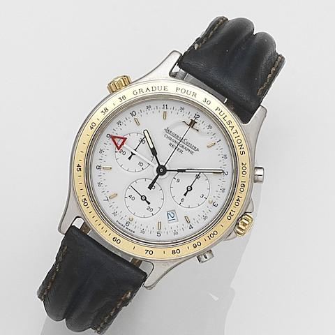 Jaeger-LeCoultre. A stainless steel and gilt quartz wristwatchReveil Heraion, Ref:116.5.33, Case No.1696500, Movement No.2515913, Sold 27th June 1992