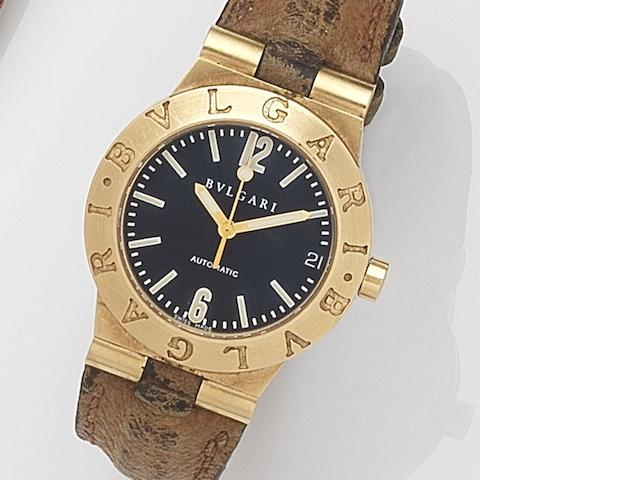 Bulgari. A lady's 18ct gold automatic calendar wristwatch Diagono, Ref:LC29G, Case No.P.869, Circa 2000