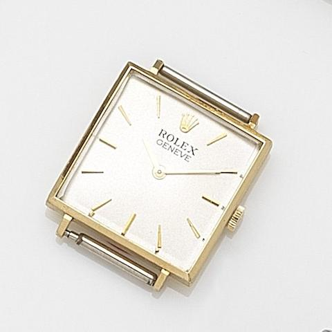 Rolex. An 18ct gold manual wind watch head Ref:3643, Case No.126****, Circa 1965