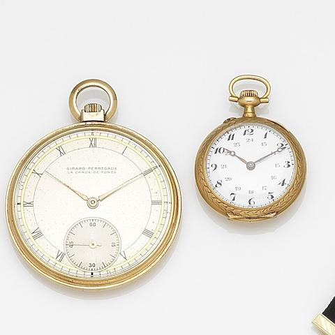 A lot of two keyless wind pocket watches