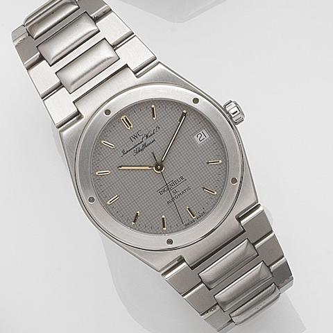 IWC. A stainless steel automatic calendar bracelet watchIngenieur SL, Case No.2386158, Movement No.2407570, Circa 1990