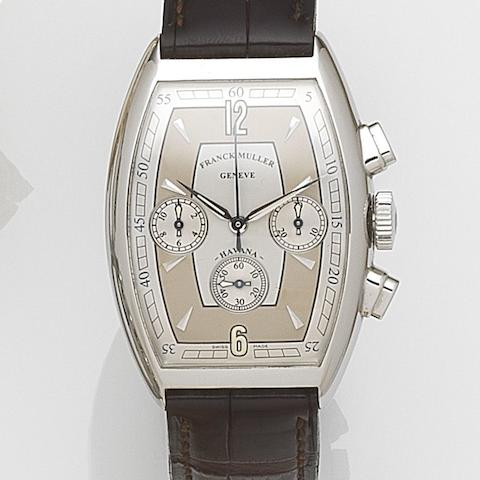 Franck Muller. A stainless steel automatic chronograph wristwatchHavana, Ref:5850 CC HV AT, Case No.119, Circa 2005