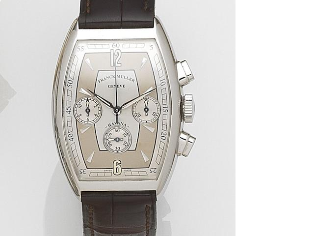 Franck Muller. A stainless steel automatic chronograph wristwatch Havana, Ref:5850 CC HV AT, Case No.119, Circa 2005