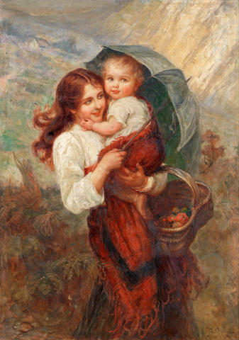 Frederick Morgan (British, 1847-1927) Sunshine and showers