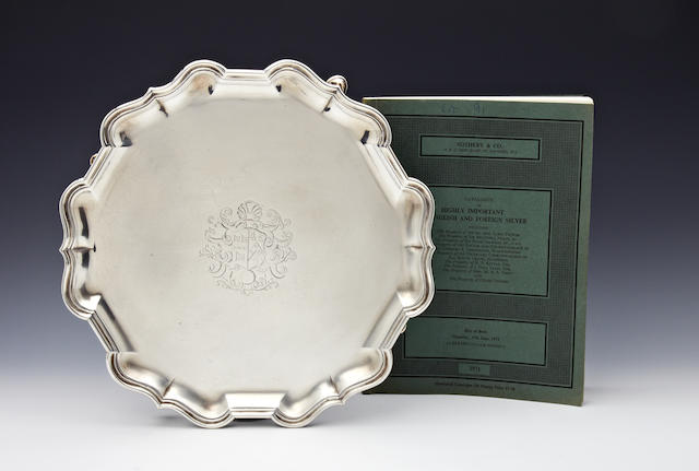 A George II silver salver by Robert Abercrombie, London 1734