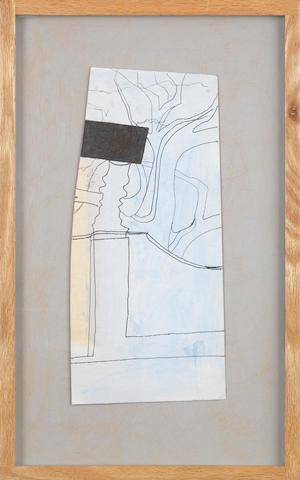 Ben Nicholson O.M. (British, 1894-1982) Aug 58 (Yorkshire) 48.3 x 29.2 cm. (19 x 11 1/2 in.)