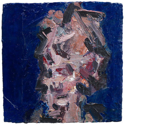 Frank Auerbach (British, born 1931) Head of Julia III 30 x 30 cm. (11 3/4 x 11 3/4 in.)