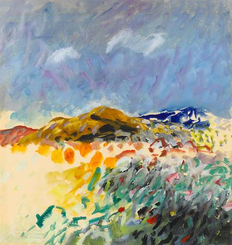 Donald Hamilton Fraser RA (British, 1929-2009) Tuesday morning near Sant Llorenc de Morunys