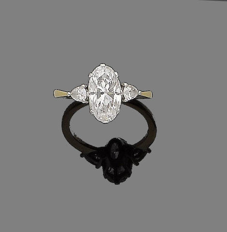 A diamond single-stone ring, by Boodle and Dunthorne